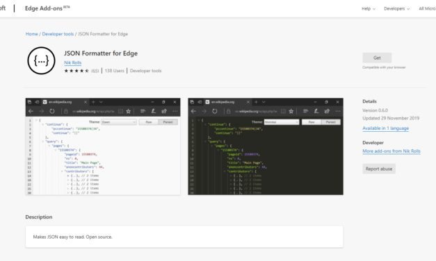 Use a JSON Formatter to view Power Automate Action Outputs.